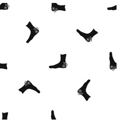 foot heel pattern seamless black vector image