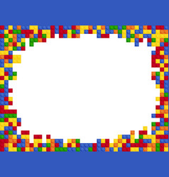frame plastic color constructor block template vector image