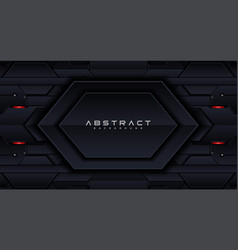 Geometric shape futuristic technology red black vector