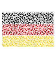 German flag mosaic of falling airplane icons vector