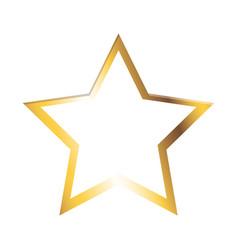golden star shiny christmas decoration image vector image