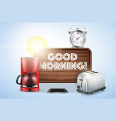 Good morning still life vector