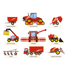 Grain trailer and trailed bale vector