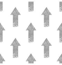 Grey up arrow pattern vector image