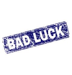 Grunge bad luck framed rounded rectangle stamp vector