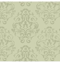 Grunge green vintage floral seamless pattern vector