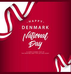 Happy denmark national day template design vector