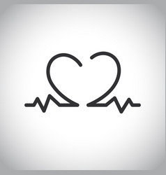Heartbeat icon on the white background vector