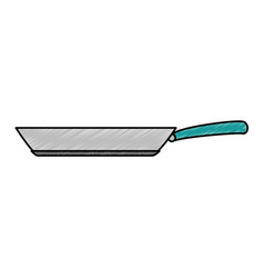 kitchen pan isolated icon vector image