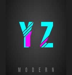 letter font modern design set letters y z vector image