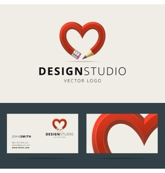 Logotype and business card template for design vector image