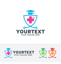 Medical education logo vector