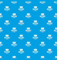 Military hat pattern seamless blue vector