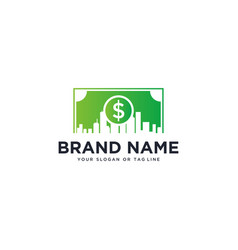 Money and urban logo design vector