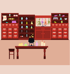Old magic laboratory vector