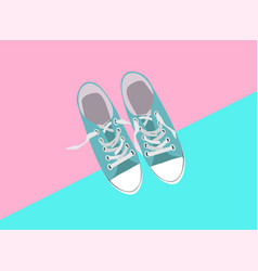 pair of shoes on color background vector image