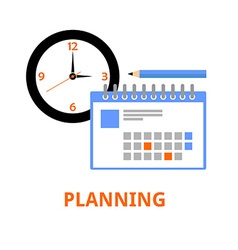planning vector image