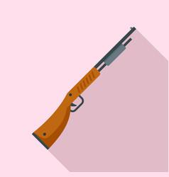 police shotgun icon flat style vector image