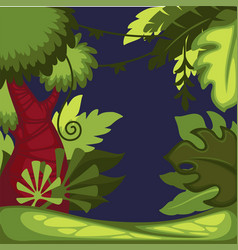 rainforest or tropical jungle lians and bushes vector image