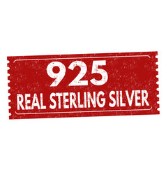 Real sterling silver sign or stamp vector
