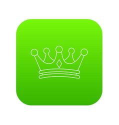regal crown icon green vector image