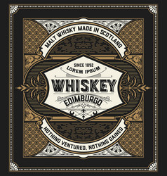 retro logo for whiskey vector image