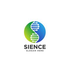 Science lab logo design template vector
