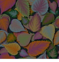 Seamless background of colorful leaves with shadow vector image