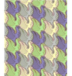 Seamless bird repetition pattern vector image