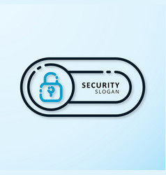 security design with lock logo vector image