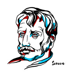 Seneca portrait vector