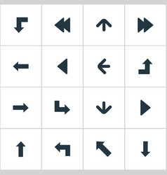 Set of 16 simple arrows icons can be found such vector