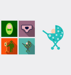 Set of medicine icons patient with dropper baby vector