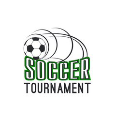 soccer football league tournament ball icon vector image