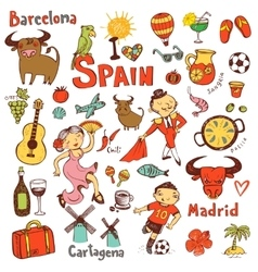 Spain icons collection vector