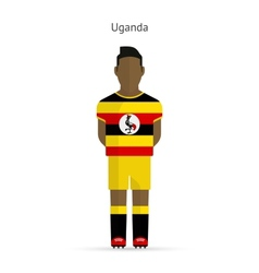 Uganda football player Soccer uniform vector