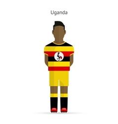 Uganda football player soccer uniform vector