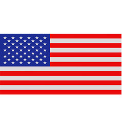 United states national flag with official colors vector
