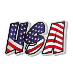 united states of america word vector image