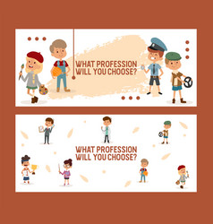 What profession will you choose banner for school vector
