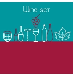 Wine elements set vector image