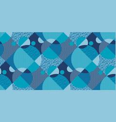 winter sport blue geometric seamless pattern vector image