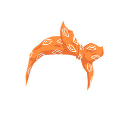 Woman hair bandana or headband with bow realistic vector