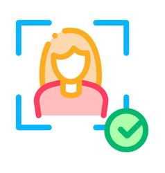 woman winner human talent icon vector image