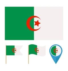 Algeriacountry flag vector image vector image