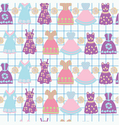 background with various female clothing fashion vector image vector image