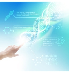Biochemistry infographics vector image vector image