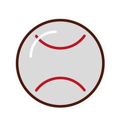 Brightly baseball cartoon vector