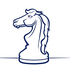 chess horse vector image
