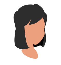 head girl character with hair icon vector image